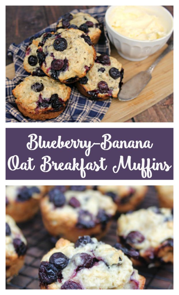 I love to create healthy and delicious #recipes that are easy to make. One of our favorite #breakfast recipes, Blueberry-#Banana Oat Breakfast #Muffins, comes from the new #cookbook, from @vbertinelli #ad