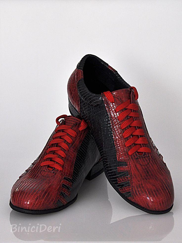Men's sporty tango shoe - Red & Black