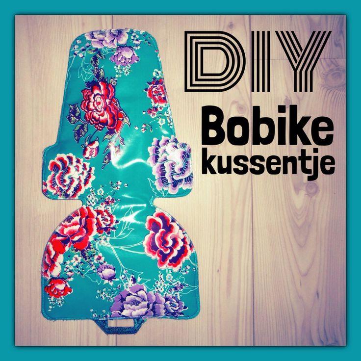 ★ DIY Bobike kussentje ★ In een uurtje is het zitje van het Bobike fietsstoeltje weer als nieuw met behulp van een stukje tafelzeil. #leukmetkids