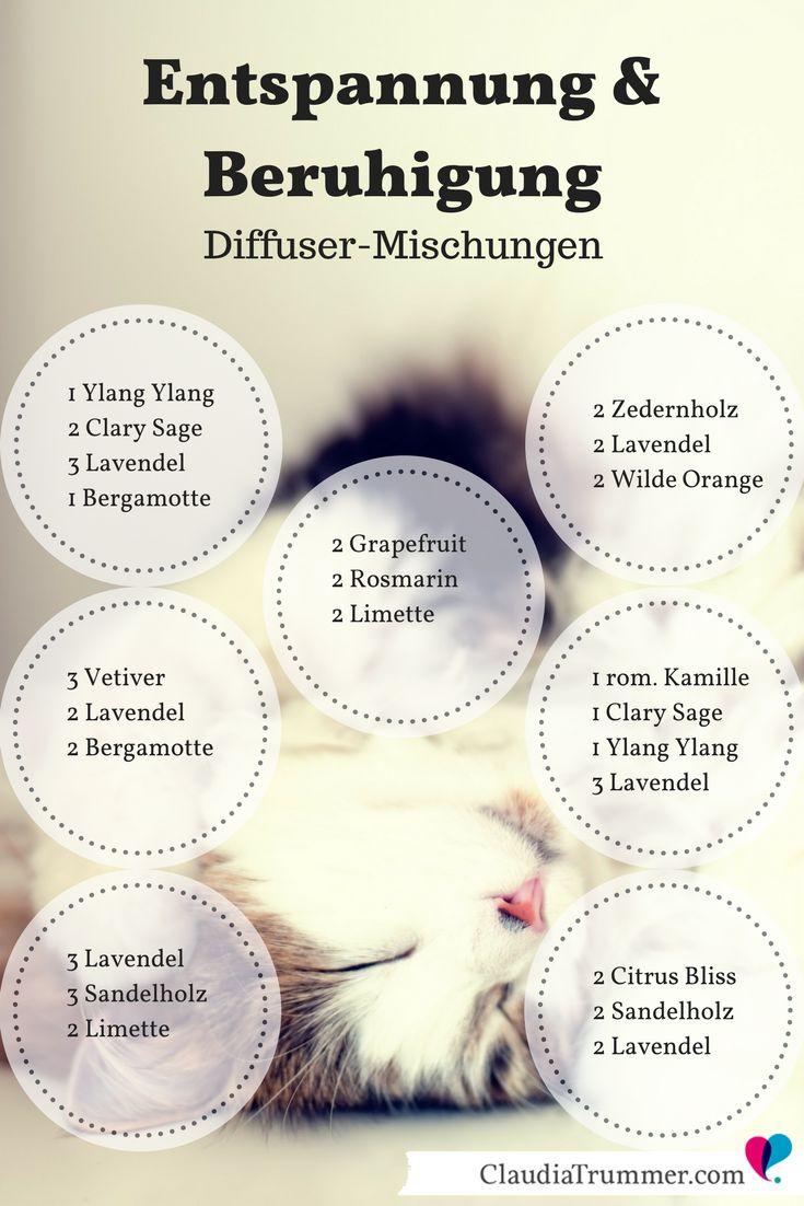 #Diffuser #Mischungen für #Beruhigung und #Entspannung | Mehr Tipps & Rezepte >… Tine See