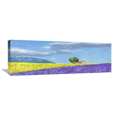 Global Gallery 'Campi di Lavanda' by Massimo Germani Painting Print on Wrapped Canvas