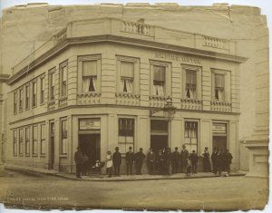 Empire Hotel in its heyday. Photo courtesy of Hokitika  Museum