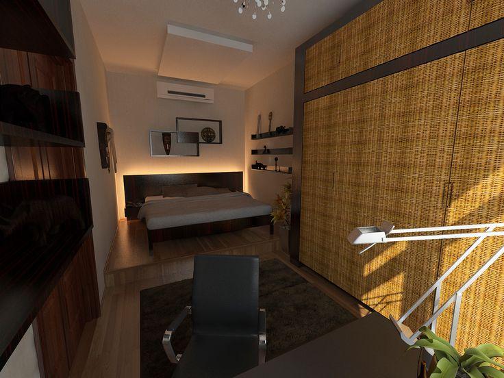 Hálószoba - terv / Bedroom - visualization