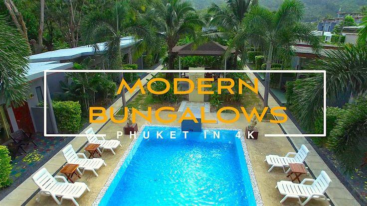 Thailand. Phuket. NaiHarn modern bungalows. 4k video.