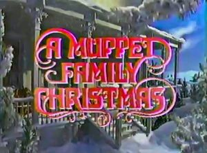 A Muppet Family Christmas original broadcast title card.