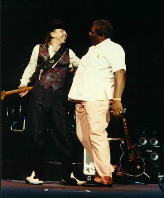 Stevie Ray and BB King
