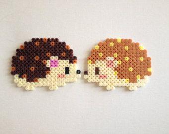 Cute Hama Beads Perler Hedgehogs