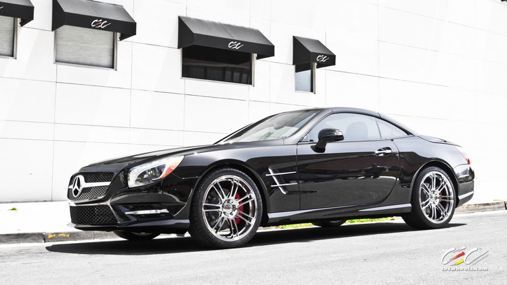 Mercedes benz sl550 with staggered 20 c883 in chrome for Mercedes benz staggered wheels