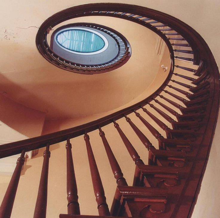 Staircase in 1840's Greek Revival Mansion at Ruthven Park National Historic Site.