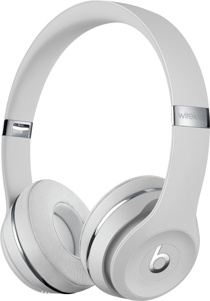 Beats By Dr Dre Beats Solo3 Wireless Headphones Satin Silver Muh52ll A With Images Wireless Beats Headphones In Ear Headphones