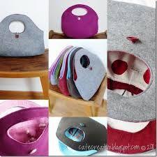 Risultati immagini per borse feltro fai da te cartamodelli