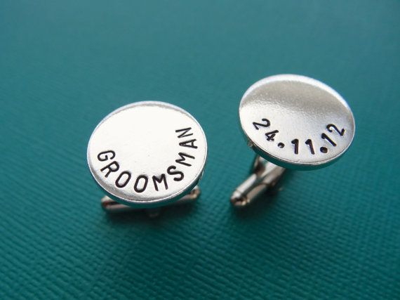 Personalized Cufflinks  Groomsman Cufflinks  by TesoroJewelry, $18.00