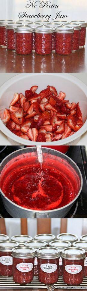 Easy Strawberry Jam (No Pectin). #strawberry #jam hinee.com/easy-strawberry-jam-no-pectin/ ❤️