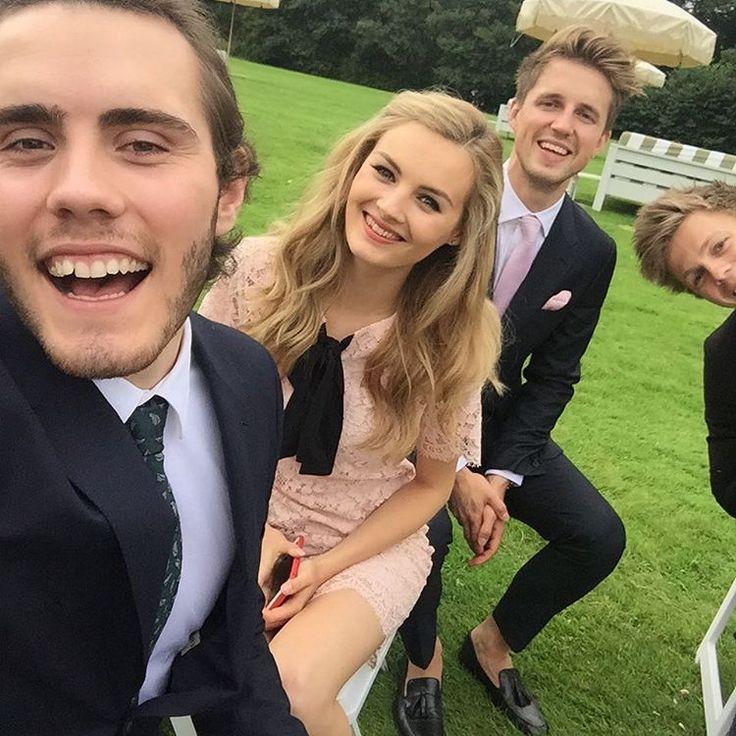 Alfie, niomi, marcus, and caspar at jim and tanyas wedding