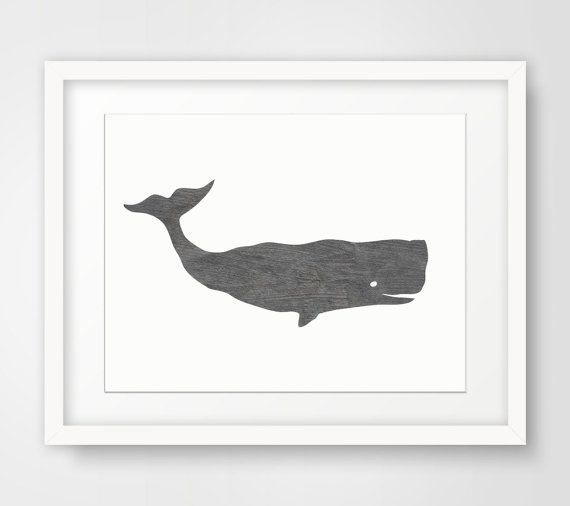 Whale Print Blue Whale Print Whale Wall Art by MelindaWoodDesigns, $5.00