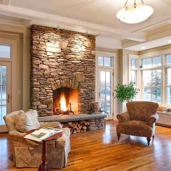 25 best ideas about Stone fireplaces on PinterestStone