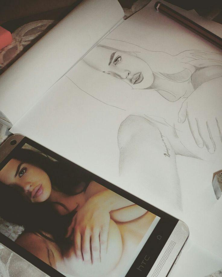 Keisha Grey #drawing #sketching by @paulvedder_ @sandro_paul