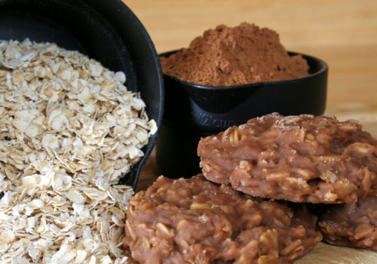 No bake cookies   -   SECOND CHOICE IF CAN'T FIND INGREDIENTS FOR Gma Boardman's RECIPE