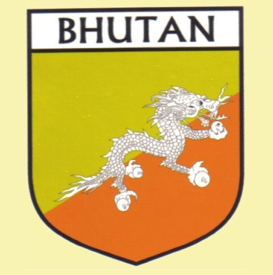 For Everything Genealogy - Bhutan Flag Country Flag Bhutan Decals Stickers Set of 3, $15.00 (http://www.foreverythinggenealogy.com.au/bhutan-flag-country-flag-bhutan-decals-stickers-set-of-3/)