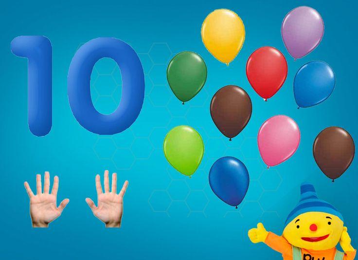 Rekenprikkels - 10 ballonnen