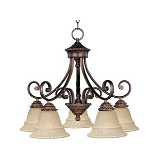 Brighton Nickel Iron 5-light Chandelier - Overstock™ Shopping - Great Deals on Maxim Lighting Chandeliers & Pendants