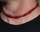 Creepy Halloween Jewelry via Etsy. this is a choker necklace... i might need to get one (throats freak me out completely)