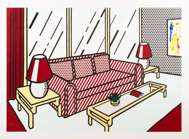 Roy Lichtenstein | Red Lamps (1990) | Available for Sale | Artsy