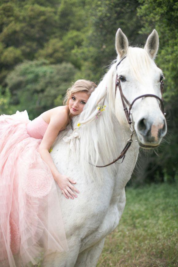http://www.kristenbooth.net/ - Fairytale secret garden wedding with vintage dress in pink layered tulle