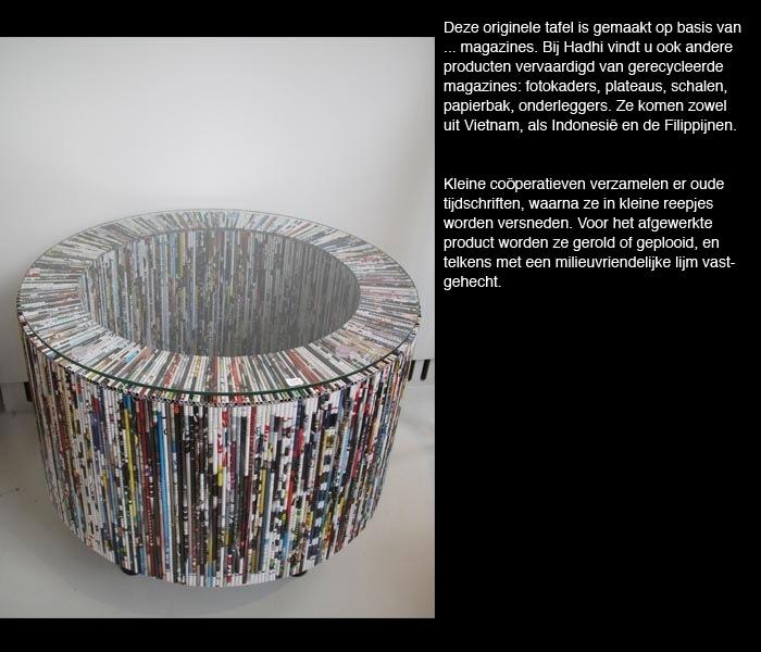 Papieren tafel met glas