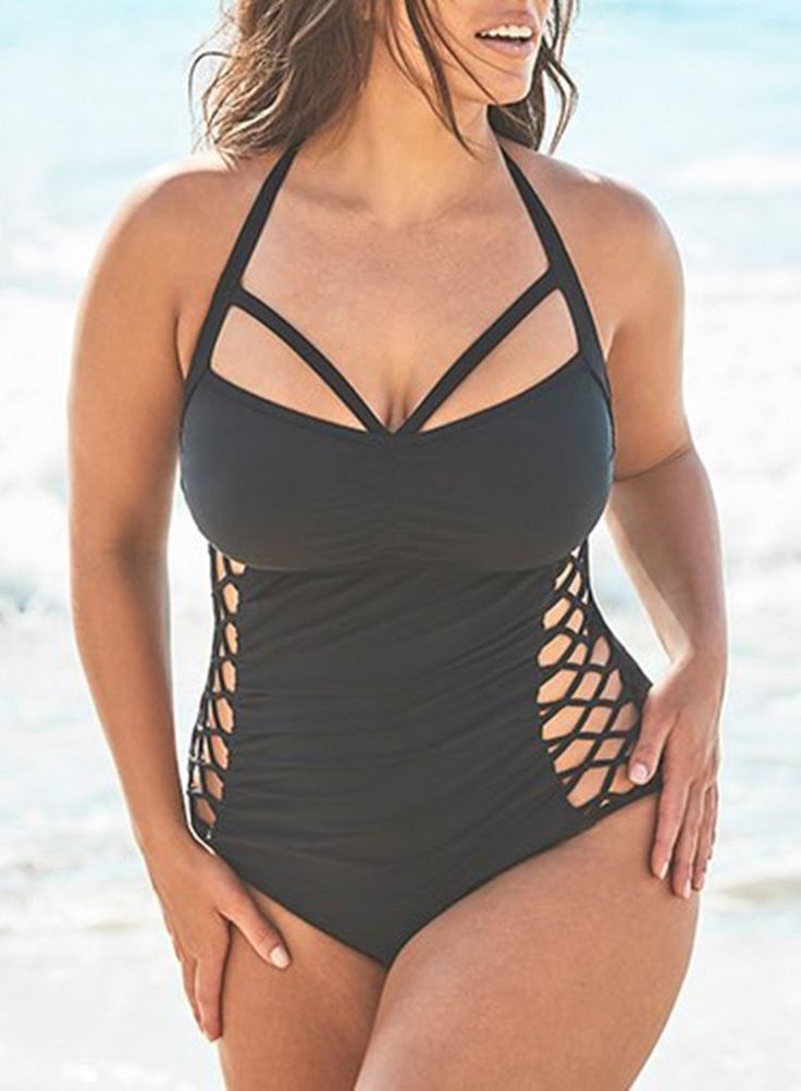 Boss cut out underwire one piece swimsuit 1