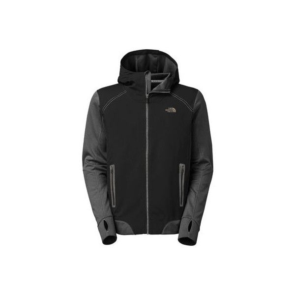 Men's The North Face Kilowatt Jacket - TNF Black/Asphalt Grey Track... ($98) ❤ liked on Polyvore featuring men's fashion, men's clothing, men's activewear, men's activewear jackets, mens track jacket and mens track tops