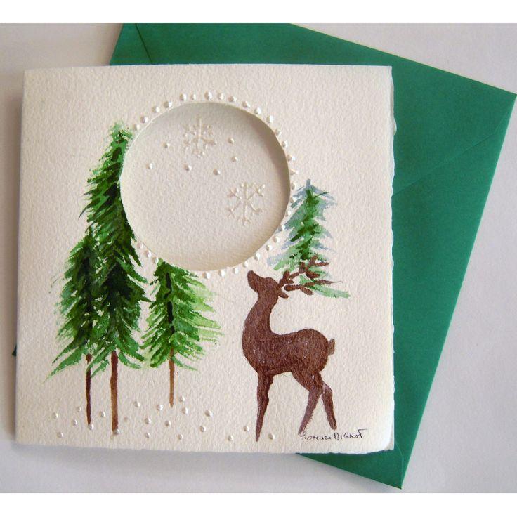 Cartes à l'aquarelle pour les fêtes fin d'année