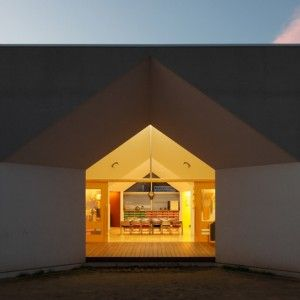 Japanese Nursery Features House Shaped Windows And Faceted Ceilings. School  ArchitectureArchitecture ...
