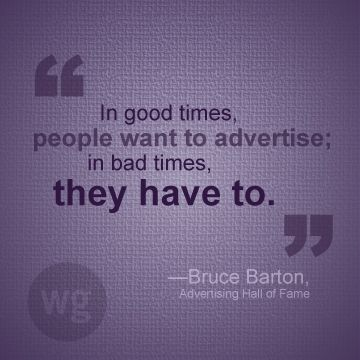 Advertising is vital. #Advertising #Quote