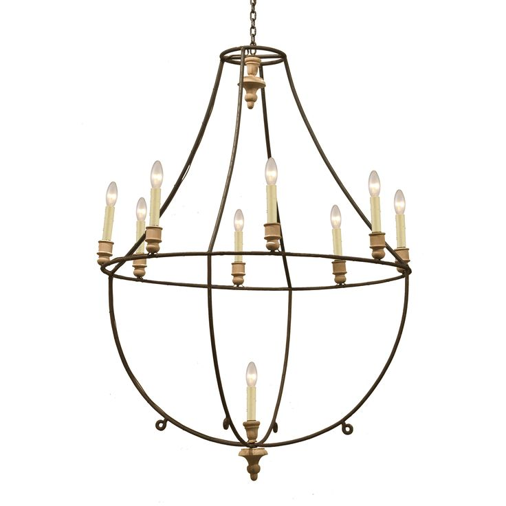Large Wood and Iron Chandelier   South of Market  sc 1 st  Pinterest & 65 best chandeliers images on Pinterest   Chandeliers Industrial ... azcodes.com