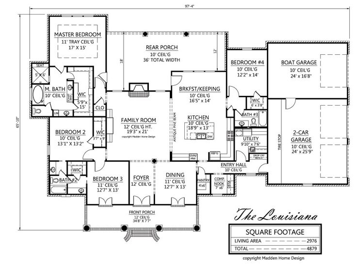 Madden home design the louisiana 2976 square feet 3 for Madden home designs