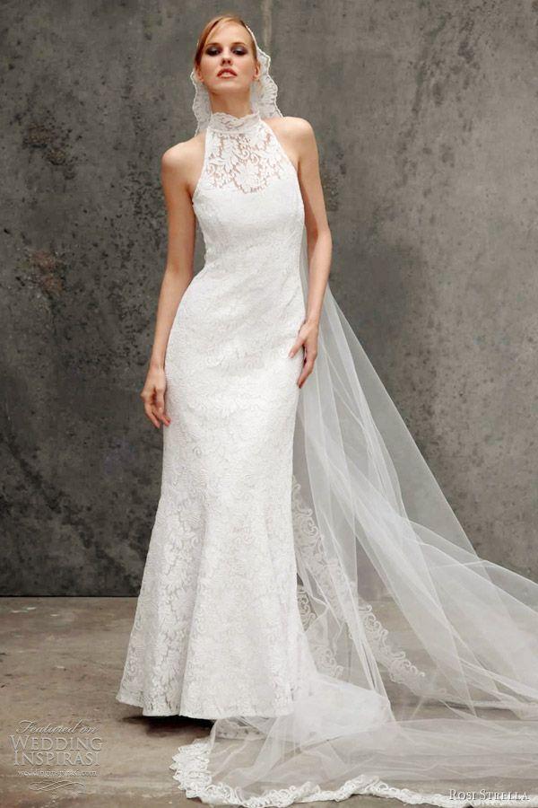 Stunning Rosi Strella Wedding Dresses Halter Neck Wedding DressesLace