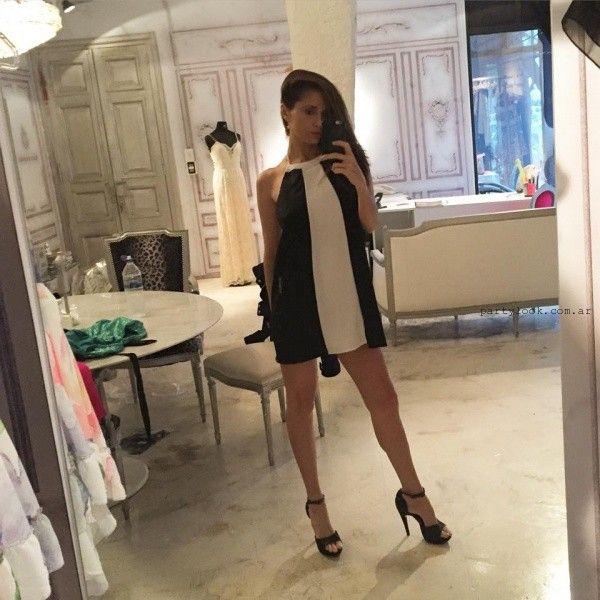 vestido corto blanco y negro corto verano 2016 - Paz Cornu