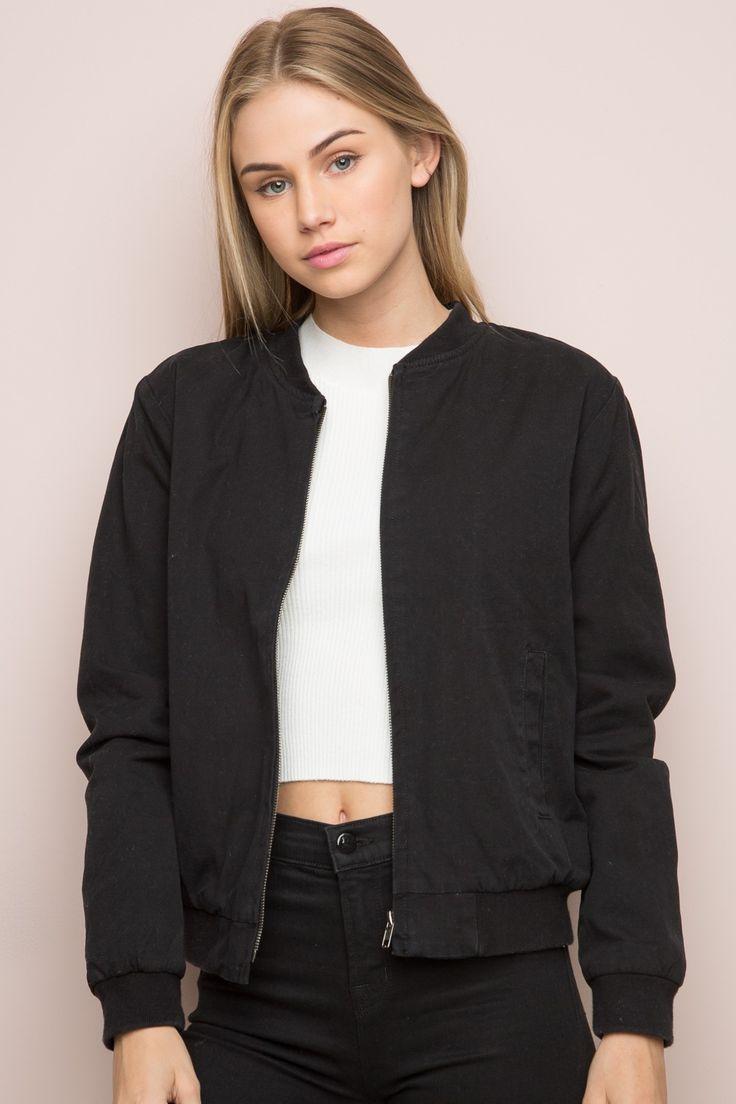 Brandy ♥ Melville | Kasey Bomber Jacket - Bomber Jackets - Outerwear - Clothing