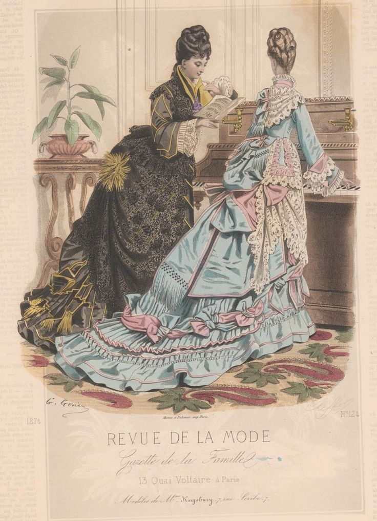 revue de la mode 1874 1874s fashion plates pinterest victorian victorian fashion and bustle. Black Bedroom Furniture Sets. Home Design Ideas