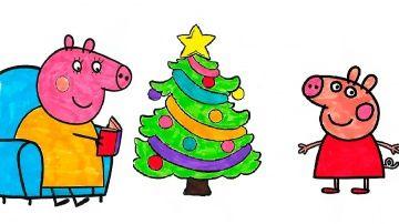 Peppa Pig Christmas tree Coloring Book Activities Video For Kids http://video-kid.com/9147-peppa-pig-christmas-tree-coloring-book-activities-video-for-kids.html