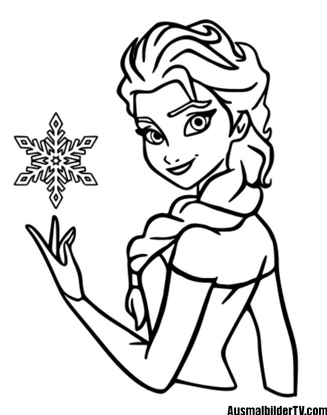 elsa headshot coloring pages - photo#1