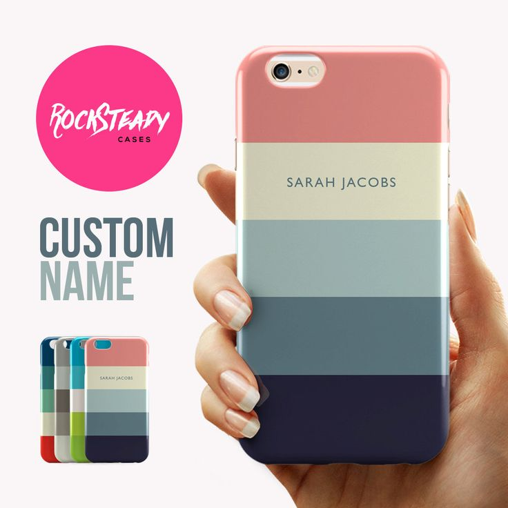 pink personalised iphone 7 case