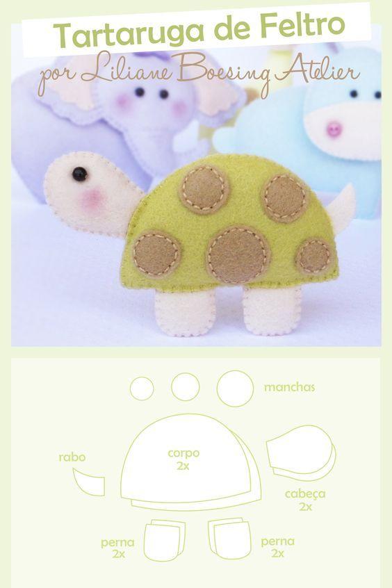 Olá queridas amigas leitoras do nosso blog, tudo bem? A postagem de hoje é esse tartaruga de feltro para fazer a decoração do quarto do be...