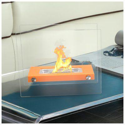 RegalFlame Monrow Ventless Portable Bio Ethanol Tabletop Fireplace Finish: Orange