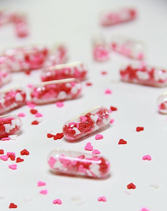 diy valentine gift ideas, heart sprinkles, diy valentine candies