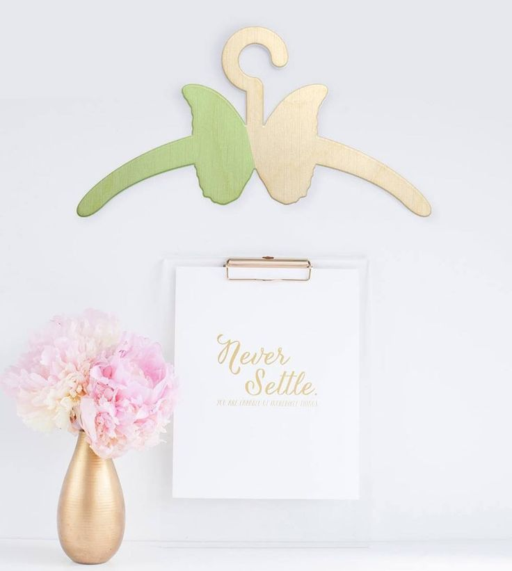 More Decoration : http://www.kadinika.com #art #wood #lasercut #hanger #children #kids #baby #clothes #nursery #decoration #butterfly #pastel #color #floral #gold #vase #wall #decor #mommy #love #cute #cuteness #closet #accessories #babyroom #babycloset