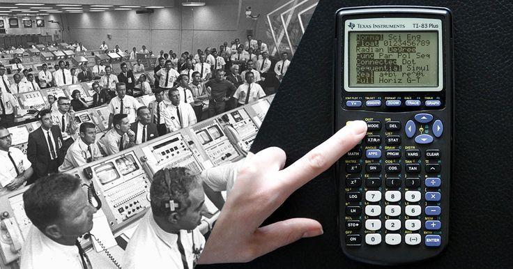 Cela m'épate La calculatrice TI-83, utilisée par les lycéens aujourd'hui est plus puissante que l'ordinateur utilisé par la Nasa pour faire atterrir Apollo 11 sur la Lune.L'ordinateur utilisé pour la mission Apollo 11 avait une puissance d'environ 1 MHz, c'est-à-dire 6 fois moins qu'une calculatrice TI-83 (6 MHz).