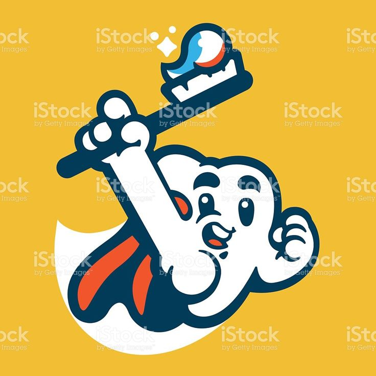 Tooth Super Hero Mascot royalty-free stock vector art