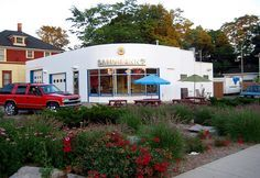 Image result for converting gas station into garden